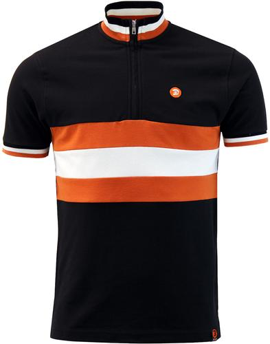 TROJAN RECORDS Retro Mod Pique Cycling Top B