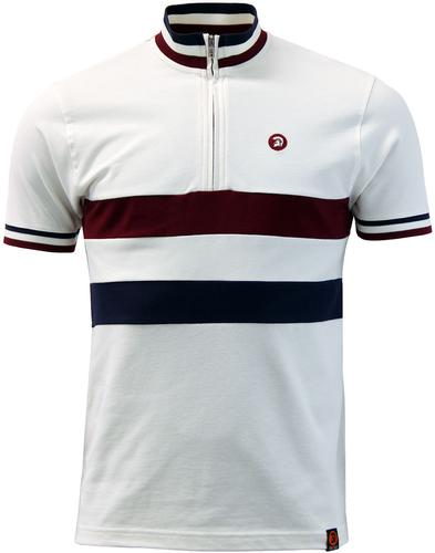 TROJAN RECORDS Retro Mod Pique Cycling Top E
