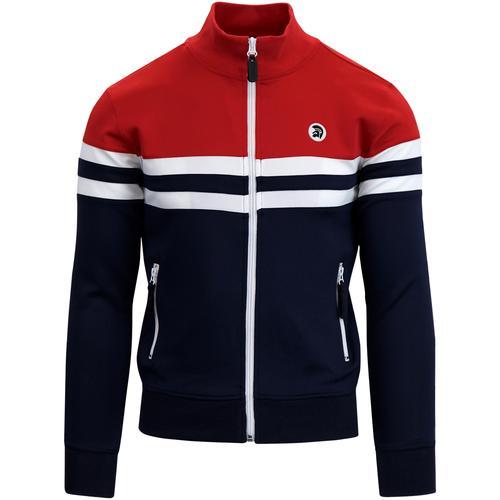 902ed760d02 trojan records mens retro colour block zip track top navy red white