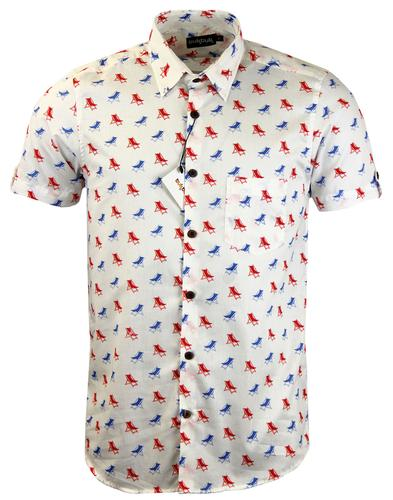 TUKTUK Retro Mod Summertime Deck Chair Print Shirt