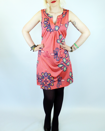 Pais VILA JOY Retro 60s Mod Paisley Tunic Dress