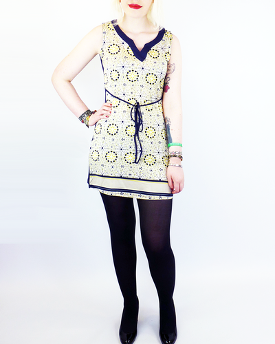 Sun-Frio VILA JOY Retro 70s Mod Tunic Dress