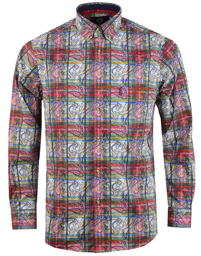 Paisley Tartan VIYELLA 60s Mod Button Down Shirt