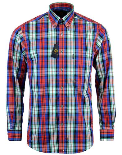 VIYELLA Retro Mod Tartan Check Button Down Shirt
