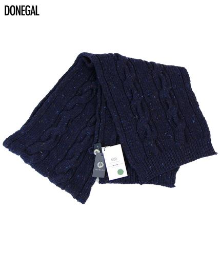 VIYELLA Retro Donegal Vintage Cable Knit Scarf
