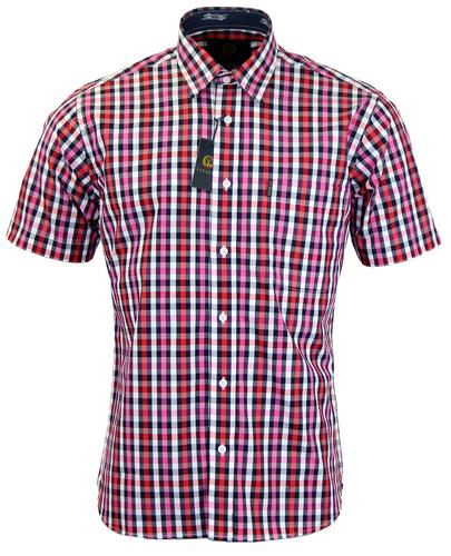 VIYELLA Retro Mod Button Down Bold Check Shirt (M)