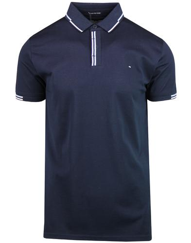 Cather WEEKEND OFFENDER Retro Tipped Polo Top NAVY