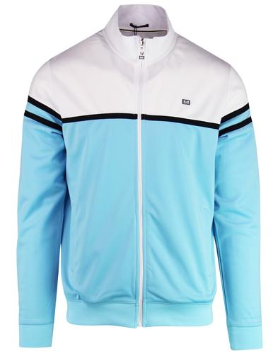 Steinbeck WEEKEND OFFENDER Retro 80s Track Top SKY