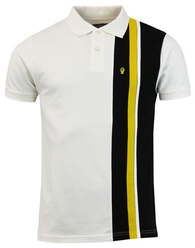 WIGAN CASINO Mod Racing Stripe Panel Pique Polo E