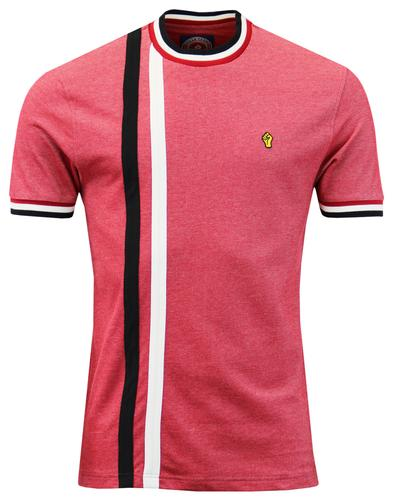WIGAN CASINO Retro Mod Racing Stripe T-shirt BLOOD