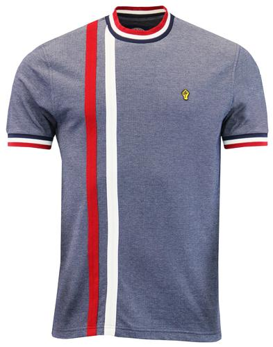 WIGAN CASINO Retro Mod Racing Stripe T-shirt NAVY