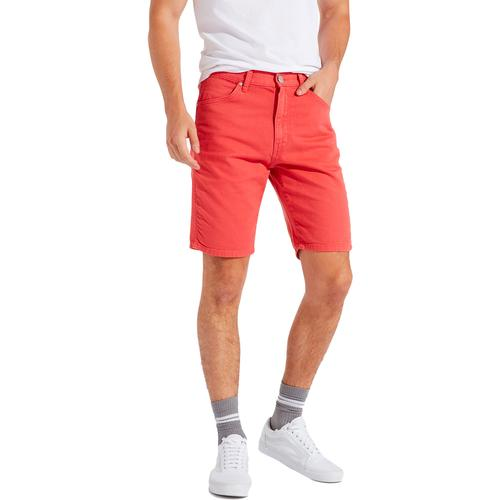 6862f0b036d Wrangler Men s Retro Indie 5 pocket Chino Shorts in Emberglow