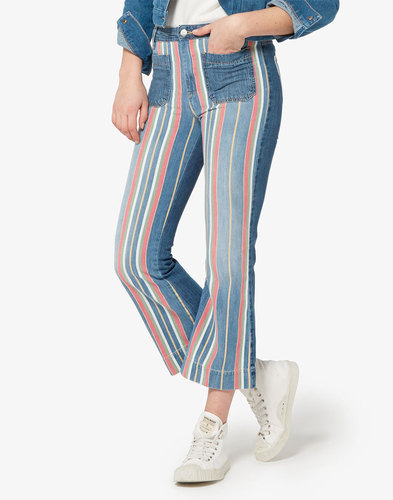 WRANGLER WOMENS Retro 70s Disco Cropped Flares
