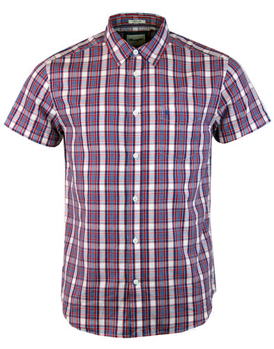 WRANGLER Retro Check Short Sleeve Western Shirt