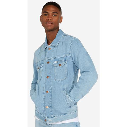 0781093e04a54 wrangler regular denim jacket bleached out